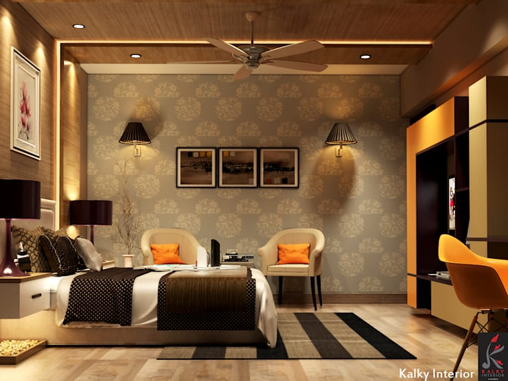 Master bedroom:  Bedroom by kalky interior