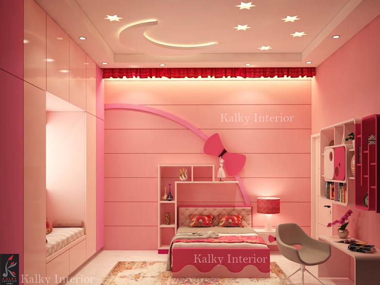 Daughters Room:  Bedroom by kalky interior