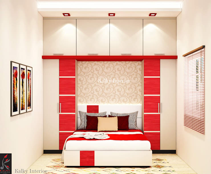 Guest bedroom:  Bedroom by kalky interior