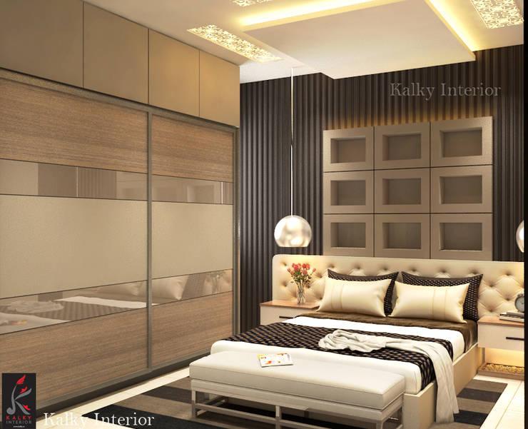 Master bedroom: modern Bedroom by kalky interior