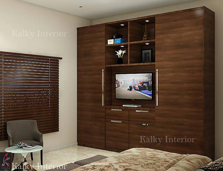 Duplex interior, Bhubaneswar: modern Bedroom by kalky interior