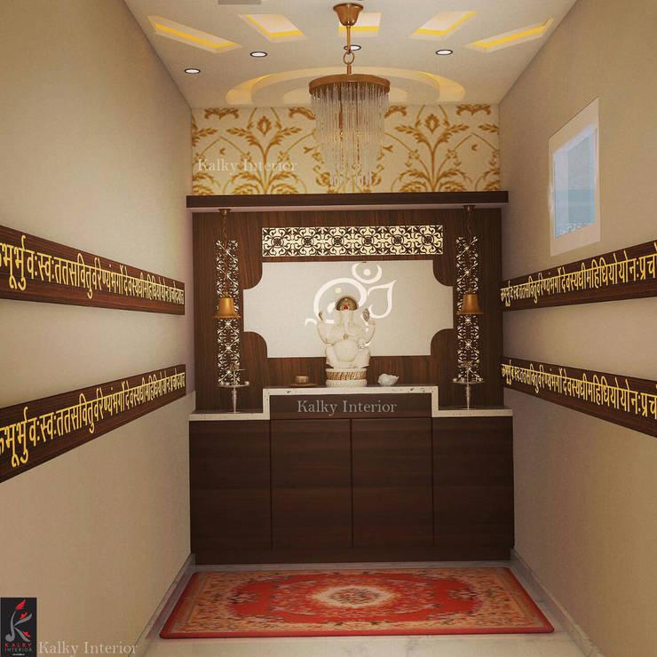 Pooja Room:  Interior landscaping by kalky interior
