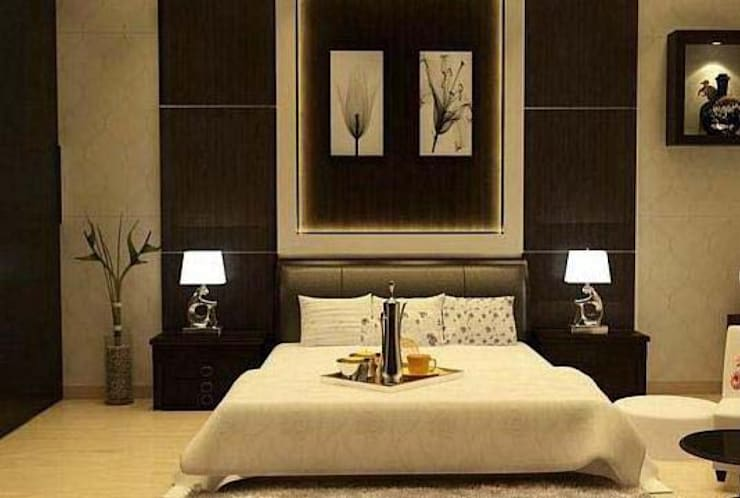Residence in Gurgaon:  Bedroom by Archint Designs Pvt. Ltd.