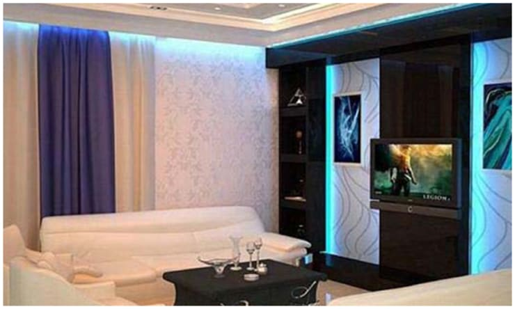 Residence in Gurgaon:  Media room by Archint Designs Pvt. Ltd.