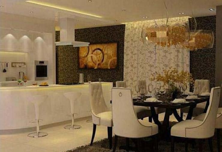 Residence in Gurgaon:  Dining room by Archint Designs Pvt. Ltd.