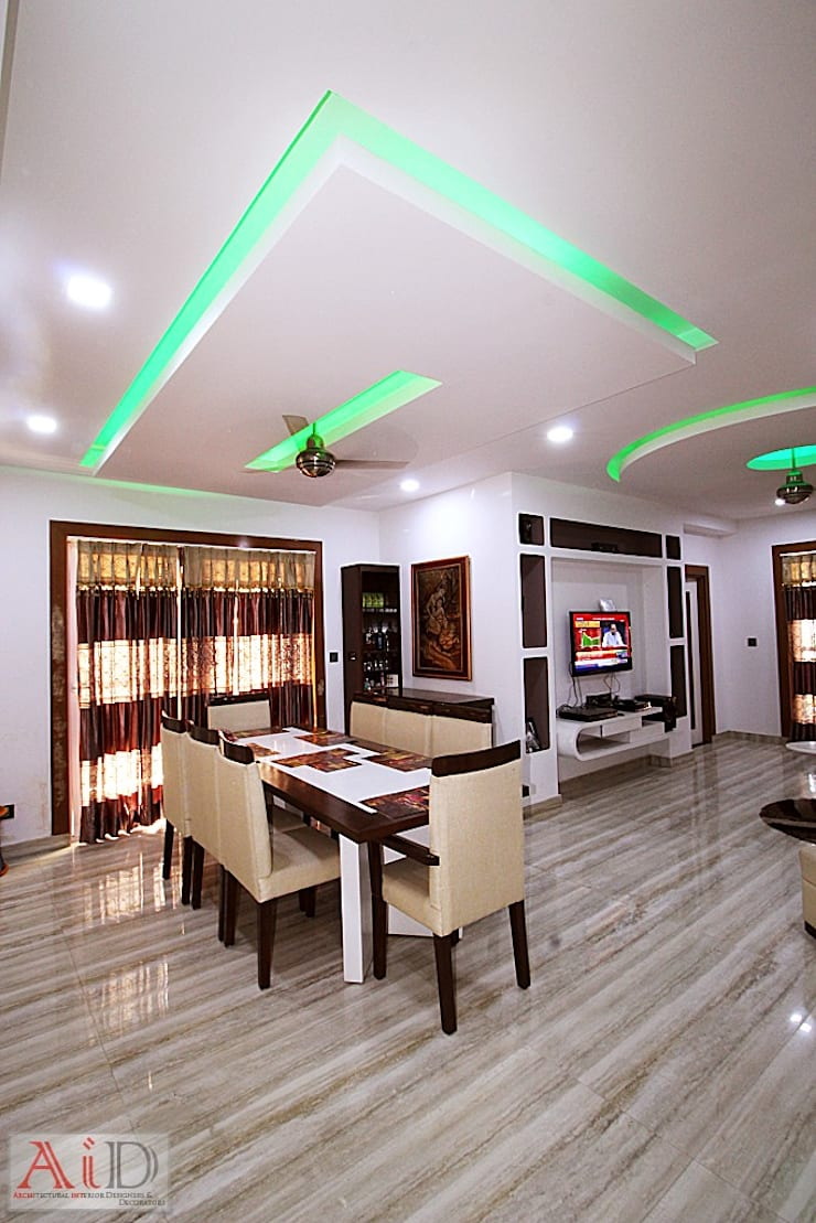 Residence in Indirapuram:  Dining room by Archint Designs Pvt. Ltd.,Modern