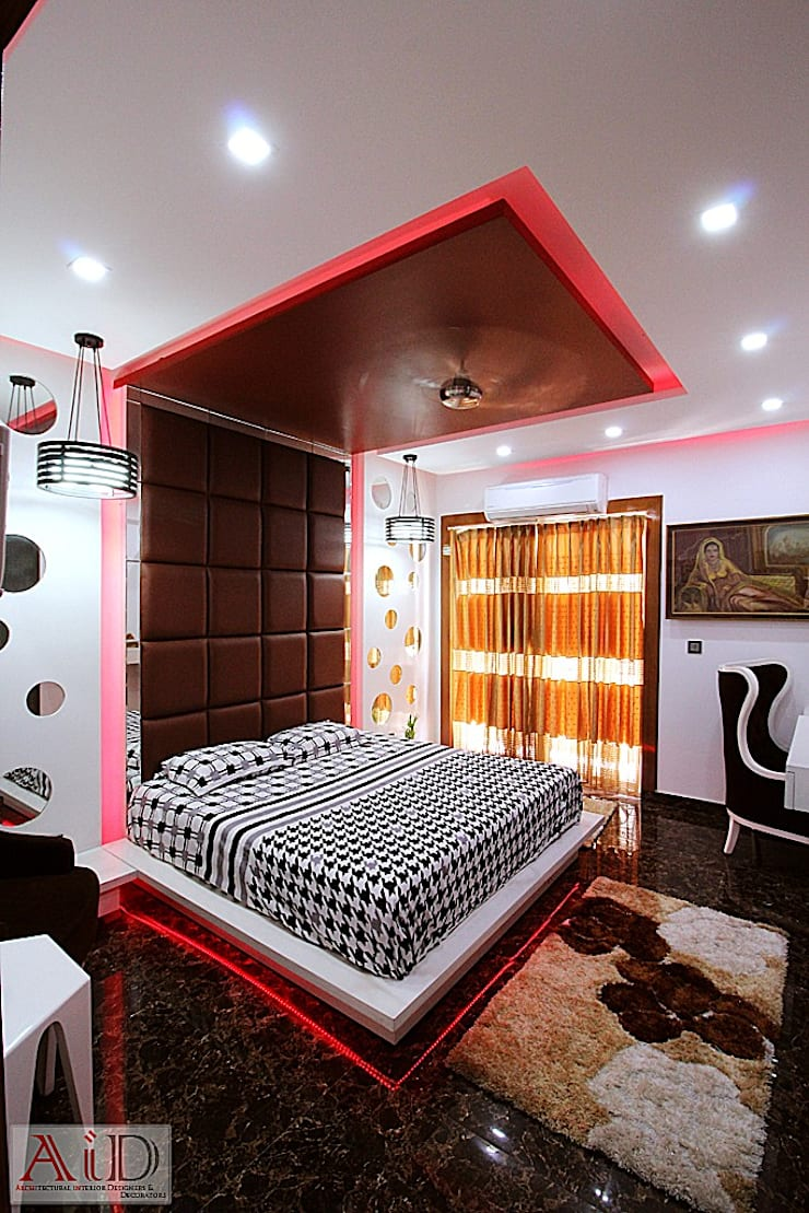 Residence in Indirapuram:  Bedroom by Archint Designs Pvt. Ltd.,Modern