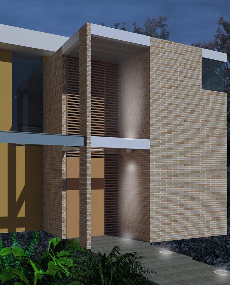 Casa La Buitrera: Casas de estilo moderno por EXPERIMENTAL ARQUITECTOS S.A.S