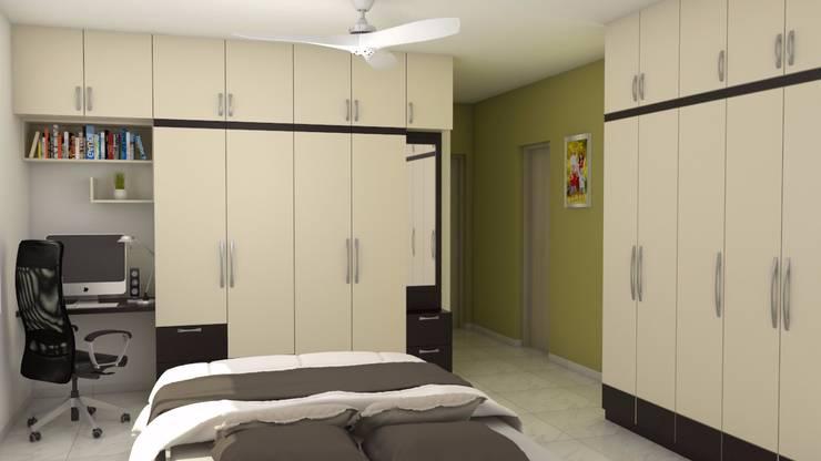 Purva Seasons 270 - Bangalore: modern Bedroom by Pebblewood.in