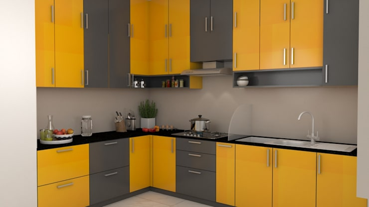 Purva Seasons 270 - Bangalore:  Kitchen by Pebblewood.in