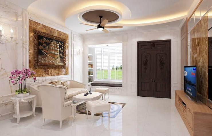 Nội thất phòng khách tinh tế, sang trọng:  Phòng khách by Công ty TNHH Xây Dựng TM – DV Song Phát