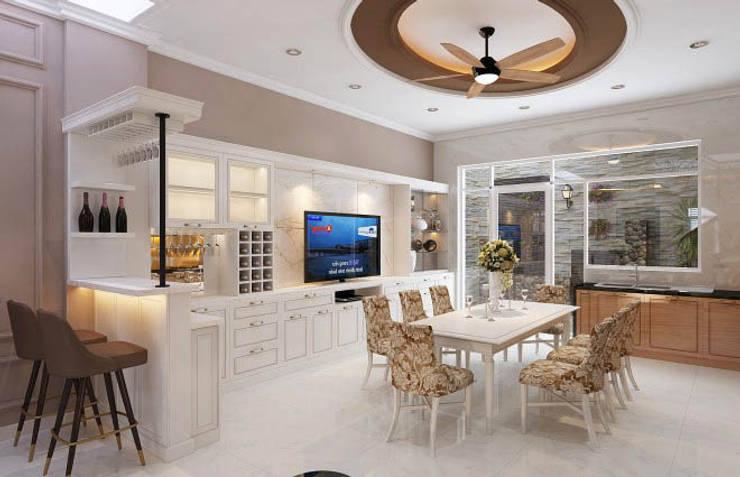 Phòng bếp gọn gàng, nội thất ấn tượng:  Tủ bếp by Công ty TNHH Xây Dựng TM – DV Song Phát