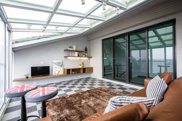 良勳建設-蕾夢湖III:  屋頂 by SING萬寶隆空間設計