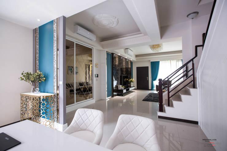 良勳建設-蕾夢湖III:  客廳 by SING萬寶隆空間設計