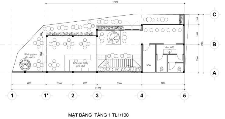 Mat Bang Tang 1:   by Công Ty Cp Thiết Kế Kiến Trúc Và Xây Dựng A9 Design