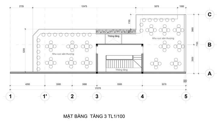 Mat Bang Tang 3:   by Công Ty Cp Thiết Kế Kiến Trúc Và Xây Dựng A9 Design