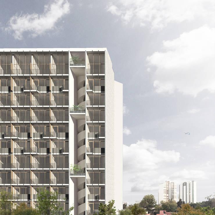 Edicifio Los Balcones - TAAU : Casas de estilo  por TAAU