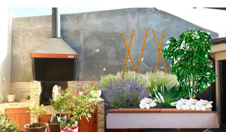 Jardín contra  la pared:  de estilo  por Vida Verde
