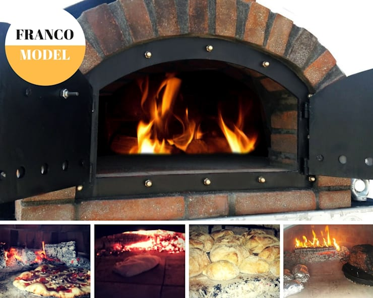 Pizza oven doors :  Front yard by Dome Ovens®, Mediterranean