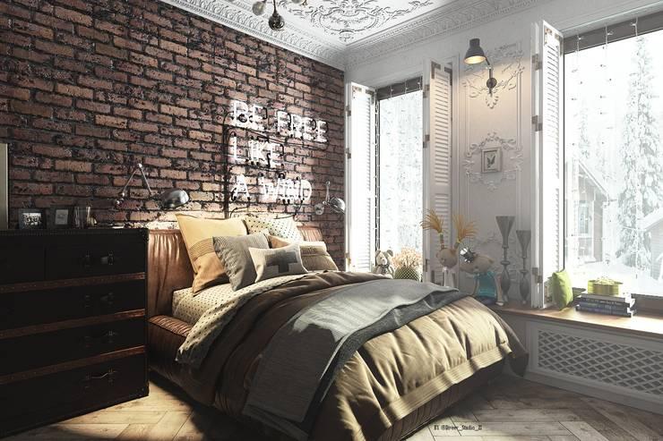спальня для девушки: Спальни в . Автор – Diveev_studio#ZI