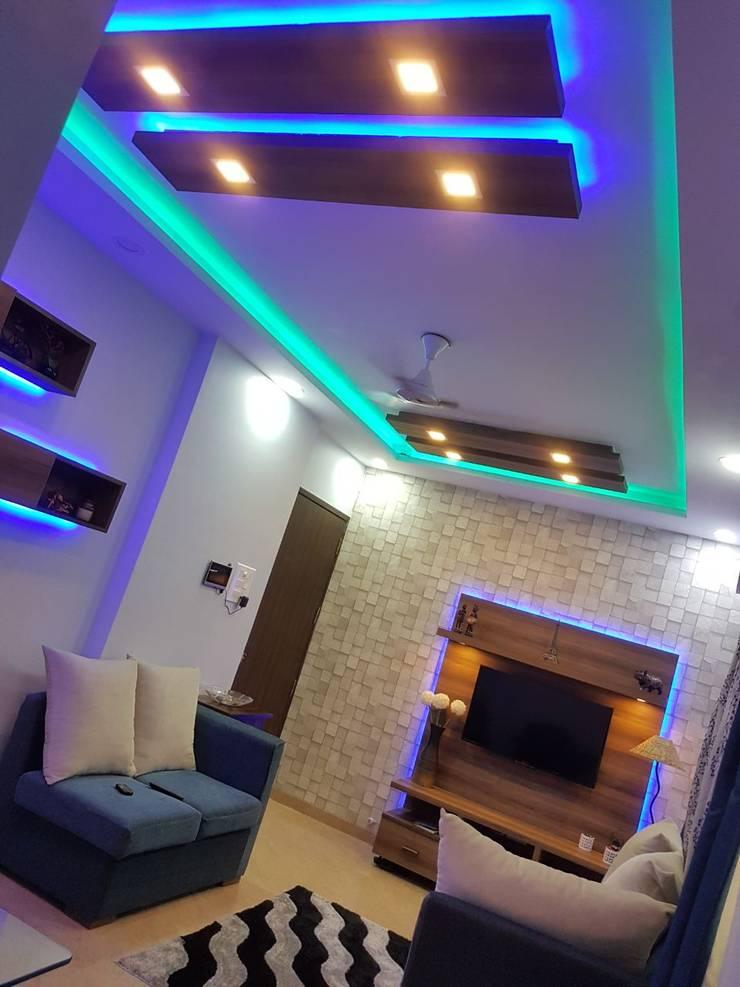 Navi Mumbai flat: modern Living room by Creative Focus