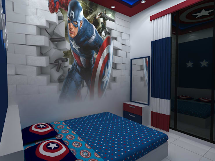 Captain America theme:  Bedroom by Creative Focus