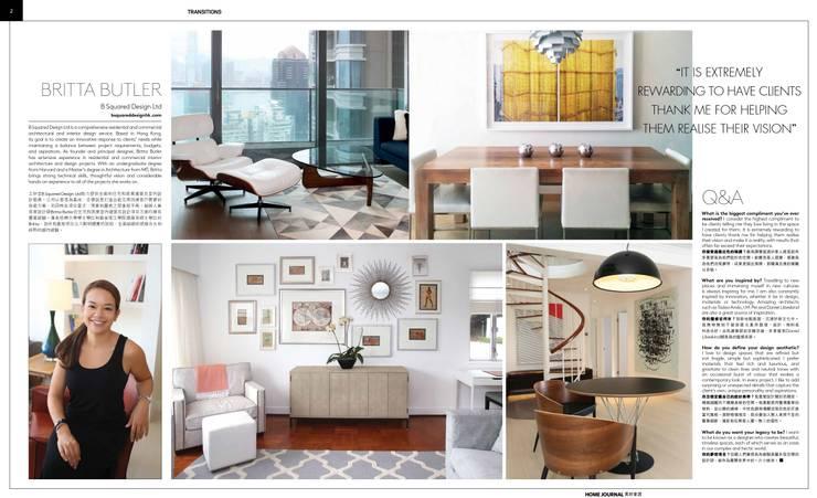 Living room by B Squared Design Ltd.