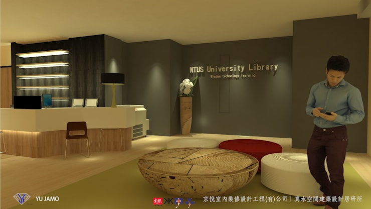 Paredes de estilo  por 京悅室內裝修設計工程(有)公司|真水空間建築設計居研所