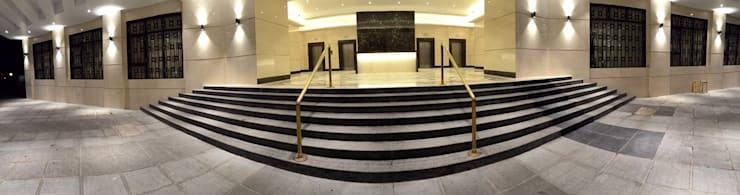 Jolly maker chamber II Lobby ( mumbai ):  Commercial Spaces by Team Kraft