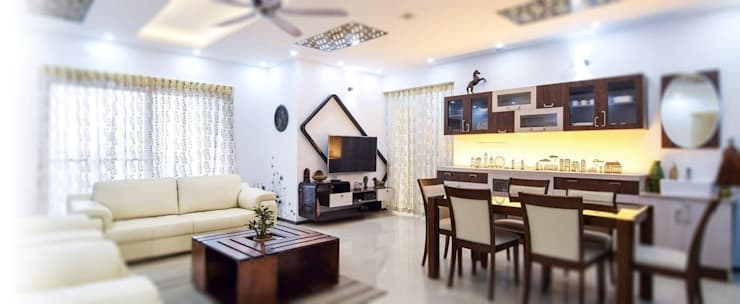 Living room by Authentic Decorators