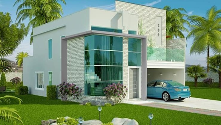 Tham khảo những mẫu mặt tiền nhà 1 tầng đẹp:  Nhà gia đình by Công ty TNHH Xây Dựng TM – DV Song Phát