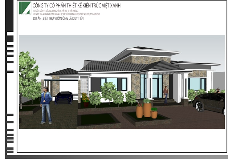 Nhà vườn Ông Lã Duy Tiến :   by công ty cổ phần Thiết kế Kiến trúc Việt Xanh