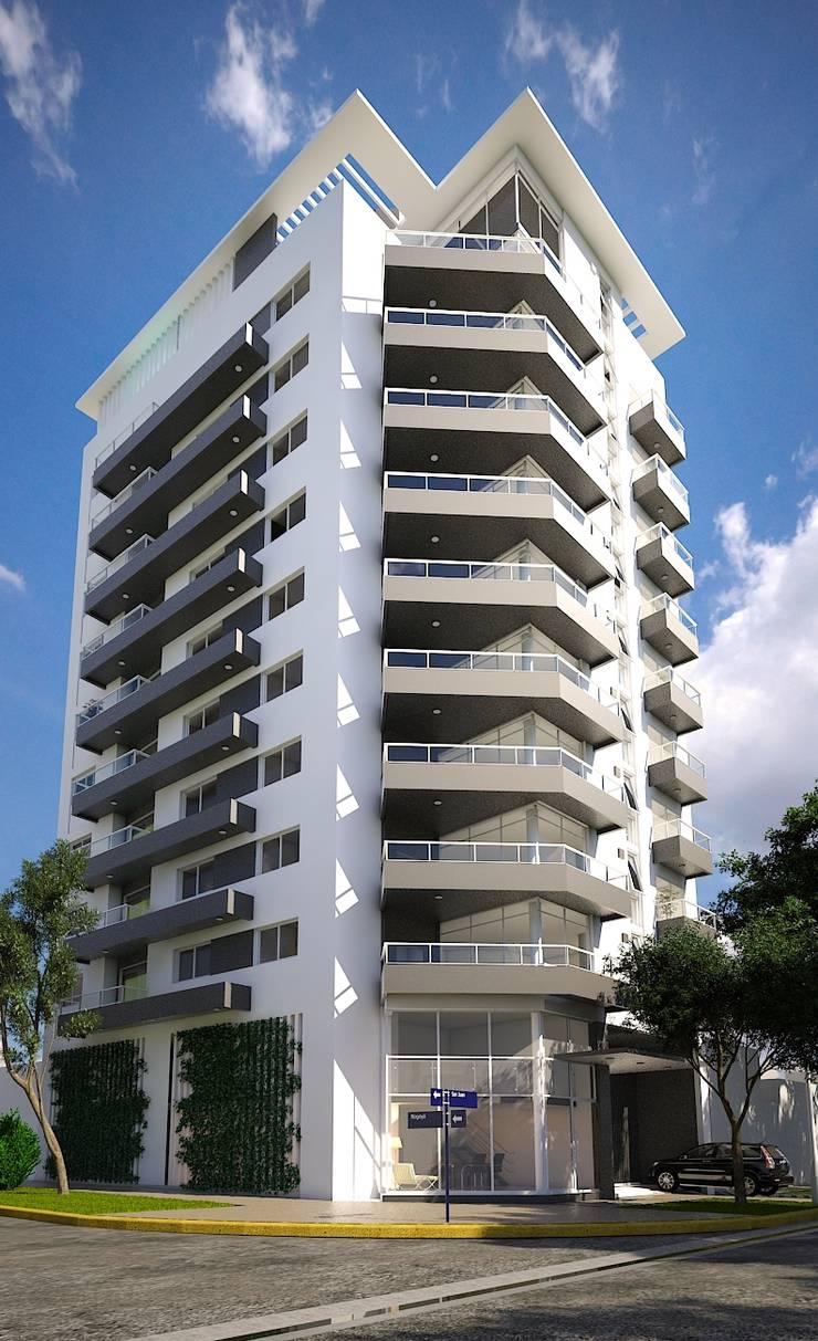 Arcadia 5: Casas de estilo  por Arcadia Arquitectura,