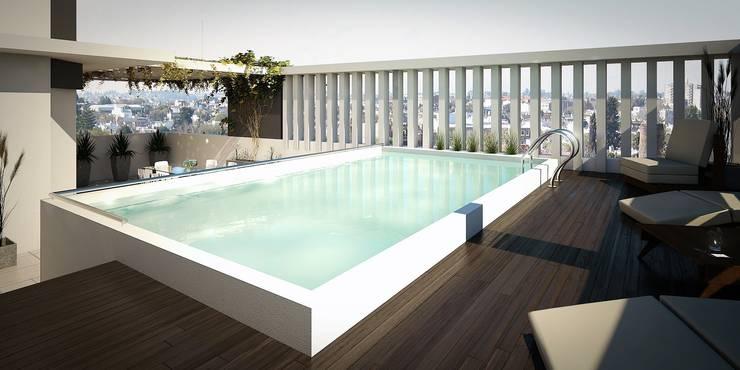 Arcadia 5: Piletas de estilo  por Arcadia Arquitectura,