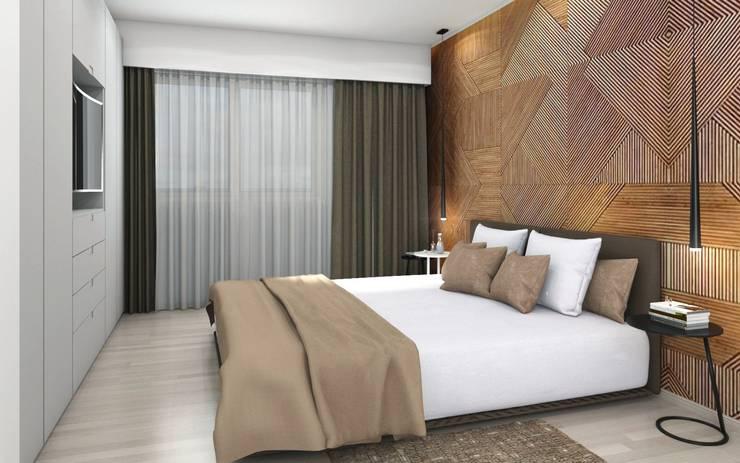 Arcadia 5: Dormitorios de estilo  por Arcadia Arquitectura,