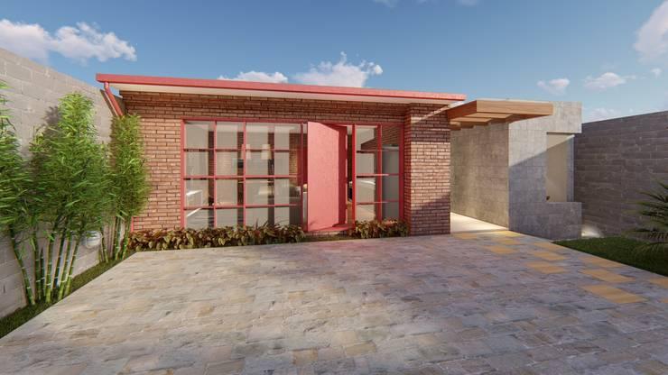 Casas de estilo  por Pedro Aguiar Arquitetura + Obra
