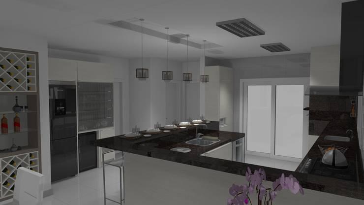 Balcão de refeições: Cozinha  por Janete Krueger Arquitetura e Design