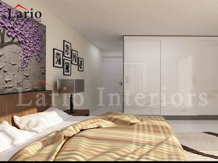 Bedroom:  Bedroom by Lario interiors