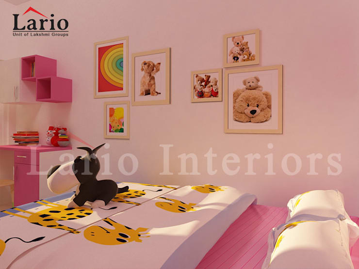 Kids bedroom:  Bedroom by Lario interiors