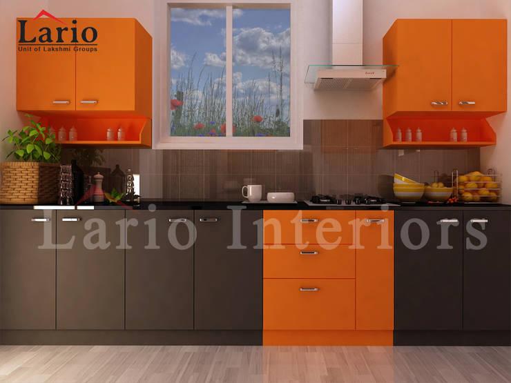 Modular kitchen:  Kitchen by Lario interiors