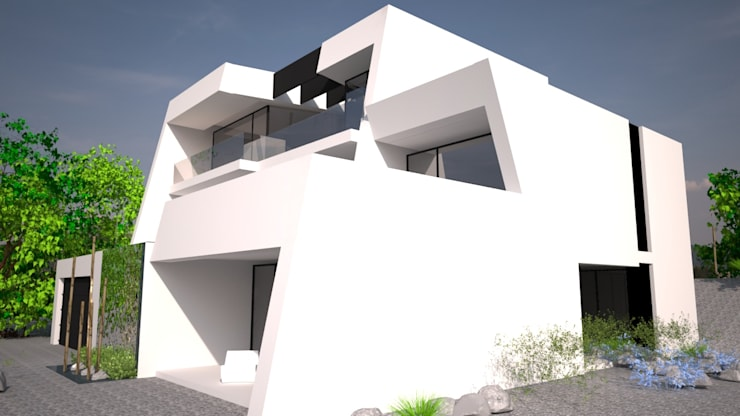 Sintra – SRF Lote 15: Moradias  por Andreia Anjos - Arquitectura, Design e Construção