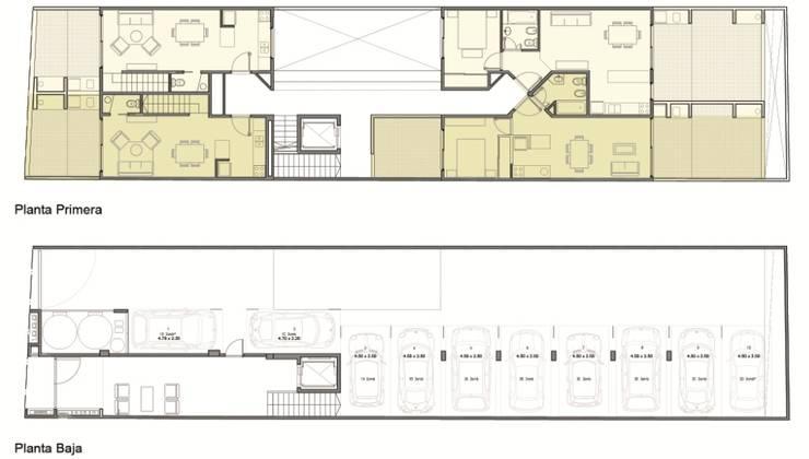 Edificio Quesada 2945: Casas de estilo  por MDOS Desarrollos Inmobiliarios,