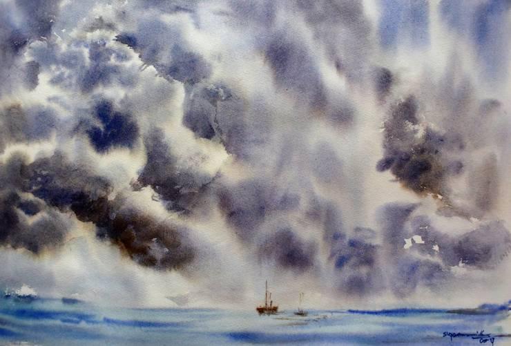 Stormy Sky:  Artwork by Indian Art Ideas