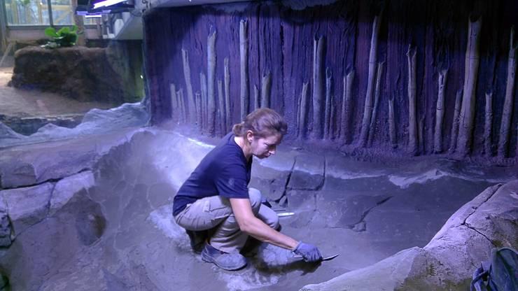 Proceso de esculpido de mortero.: Museos de estilo  de GreenerLand. Arquitectura Paisajista y Tematización