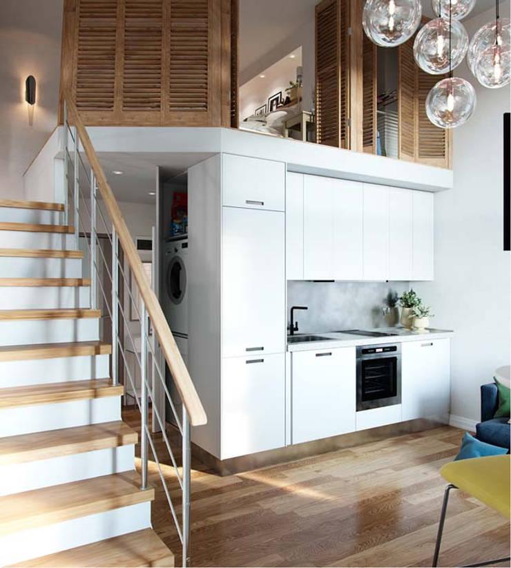 Gác lửng là giải pháp tối ưu giúp tăng diện tích sử dụng cho những ngôi nhà nhỏ hiện nay.:  Phòng khách by Công ty TNHH Thiết Kế Xây Dựng Song Phát