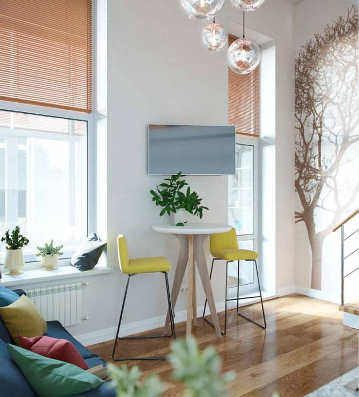 Phòng khách được thiết kế hiện đại.:  Phòng khách by Công ty TNHH Thiết Kế Xây Dựng Song Phát
