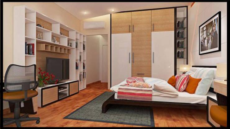 Tư Vấn Thiết Kế Nhà Ống 3 Tầng 1 Tum 5x18m Ở Bình Thạnh:  Phòng ngủ by Công ty TNHH Xây Dựng TM – DV Song Phát