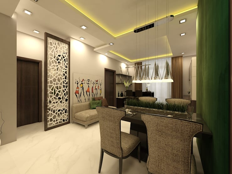 Dining:  Dining room by Regalias India Interiors & Infrastructure
