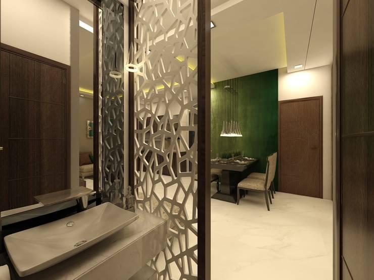 Wash Area:  Corridor & hallway by Regalias India Interiors & Infrastructure