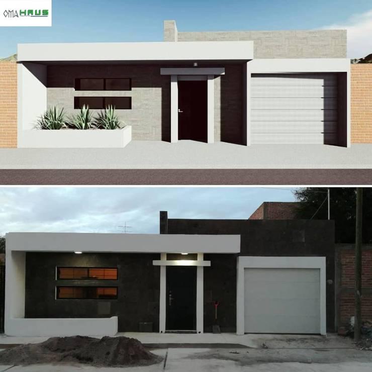 Casas de estilo  por OmaHaus Arquitectos